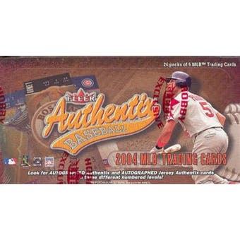 2004 Fleer Authentix Baseball Hobby Box