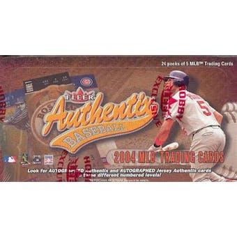 2004 Fleer Authentix Baseball Hobby Box
