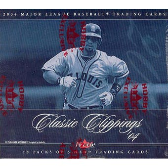 2004 Fleer Classic Clippings Baseball Hobby Box