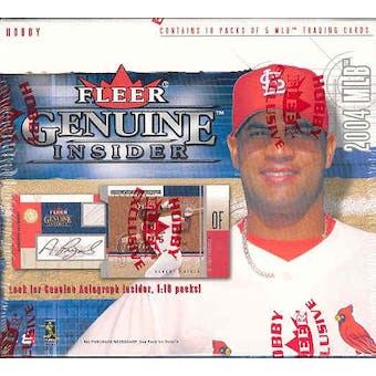 2004 Fleer Genuine Insider Baseball Hobby Box