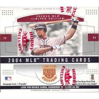 2004 Fleer Skybox Limited Edition Baseball Hobby Box
