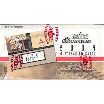2004 Fleer Showcase Baseball Hobby Box