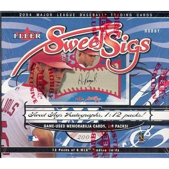 2004 Fleer Sweet Sigs Baseball Hobby Box