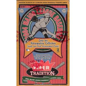 2004 Fleer Tradition Baseball Hobby Box