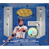 2004 Leaf Certified Materials Baseball Hobby Box