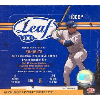 2004 Leaf Baseball Hobby Box