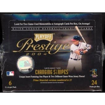 2004 Playoff Prestige Baseball Hobby Box