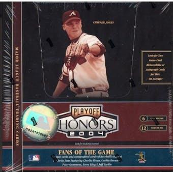2004 Playoff Honors Baseball Hobby Box