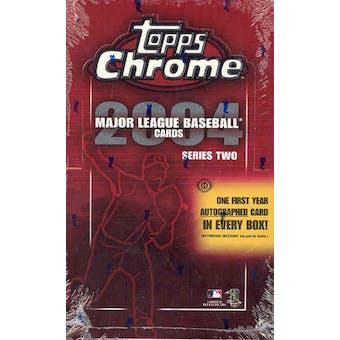 2004 Topps Chrome Series 2 Baseball Hobby Box