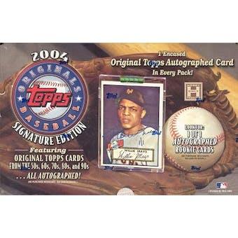 2004 Topps Originals Baseball Hobby Box