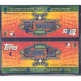 2004 Topps Opening Day Baseball Box