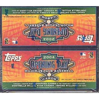 2004 Topps Opening Day Baseball Box