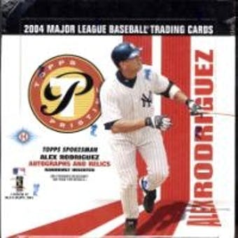 2004 Topps Pristine Baseball Hobby Box