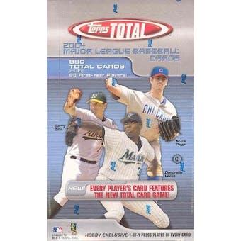 2004 Topps Total Baseball Hobby Box