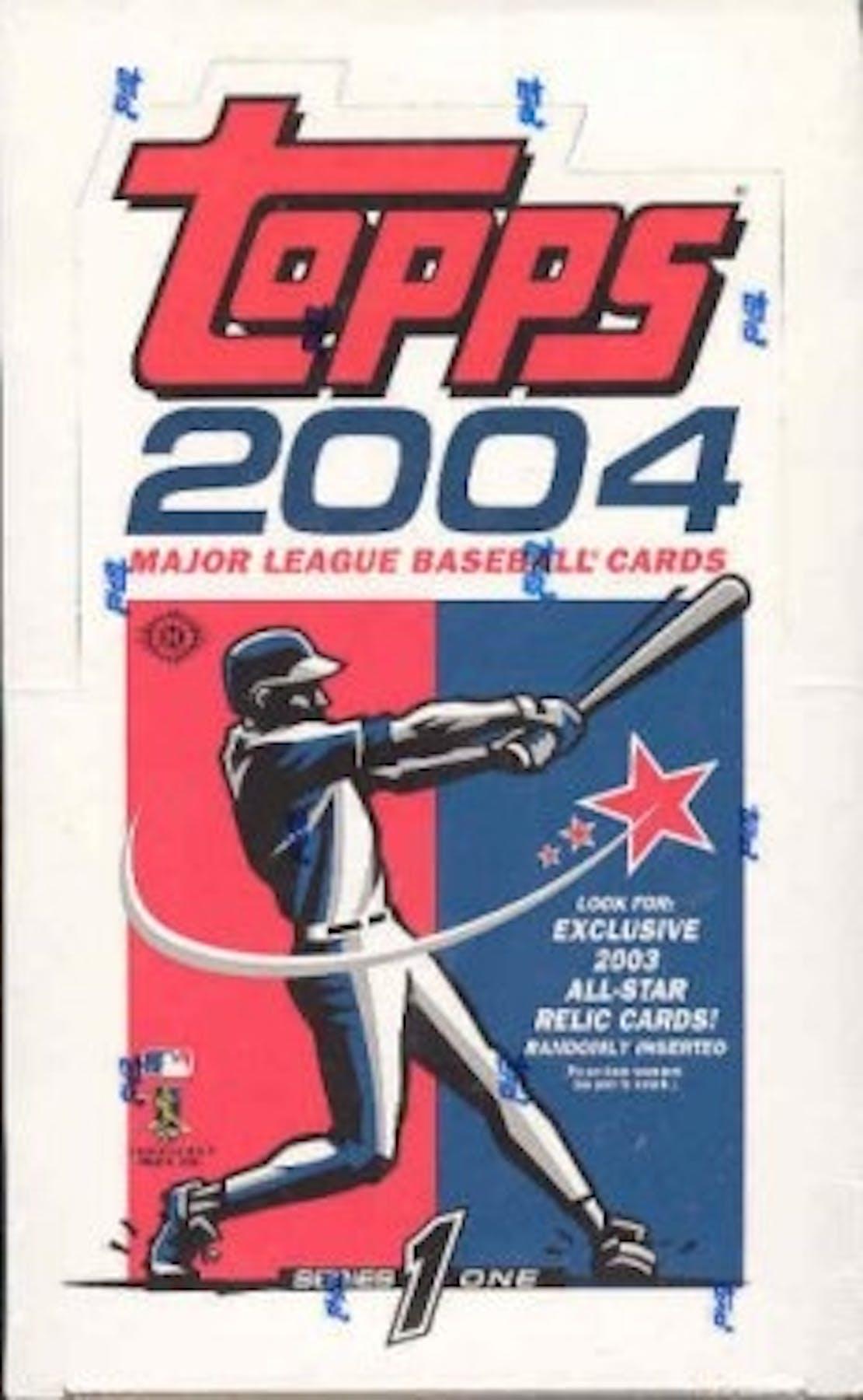 2004 Topps Series 1 Baseball Hobby Box Da Card World