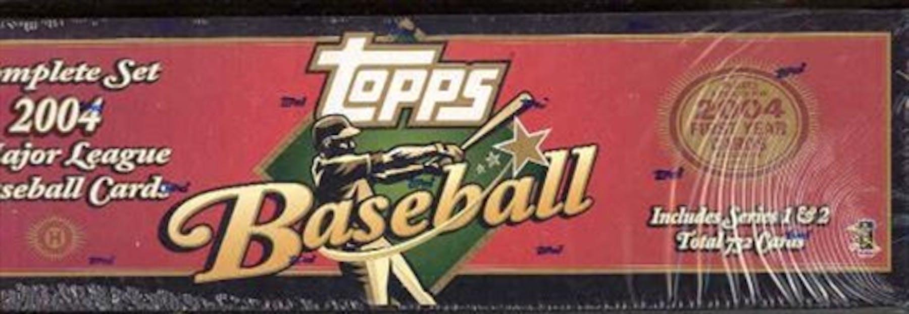 2004 Topps Baseball Hobby Factory Set Box Brown Da