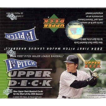 2004 Upper Deck First Pitch Baseball 36 Pack Box