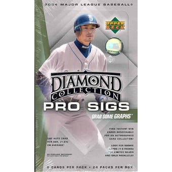2004 Upper Deck Diamond Collection Pro Sigs Baseball Hobby Box