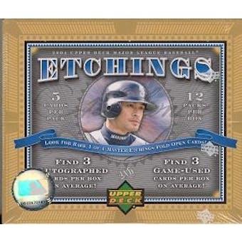 2004 Upper Deck Etchings Baseball Hobby Box