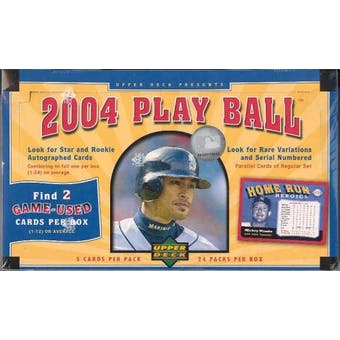 2004 Upper Deck Play Ball Baseball Hobby Box