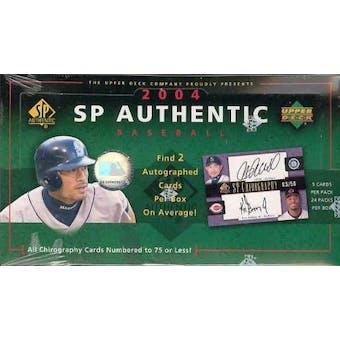 2004 Upper Deck SP Authentic Baseball Hobby Box