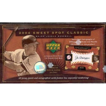 2004 Upper Deck Sweet Spot Classics Baseball Hobby Box
