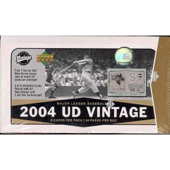 2004 Upper Deck Vintage Baseball Hobby Box