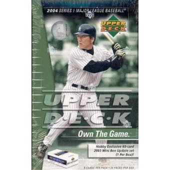 2004 Upper Deck Series 1 Baseball Hobby Box