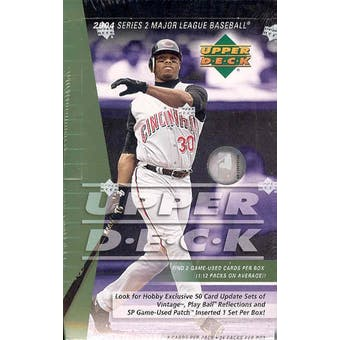 2004 Upper Deck Series 2 Baseball Hobby Box