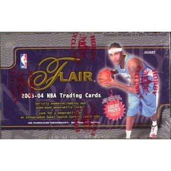 2003/04 Fleer Flair Basketball Hobby Box