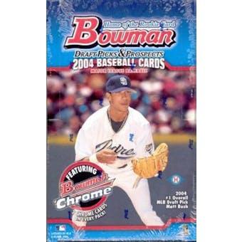 2004 Bowman Draft Picks And Prospects Baseball Hobby Box