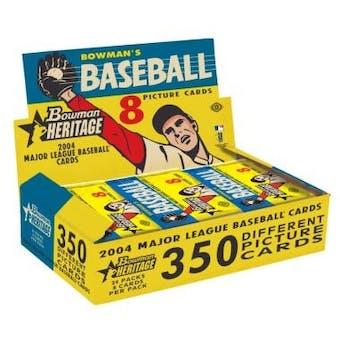 2004 Bowman Heritage Baseball Hobby Box