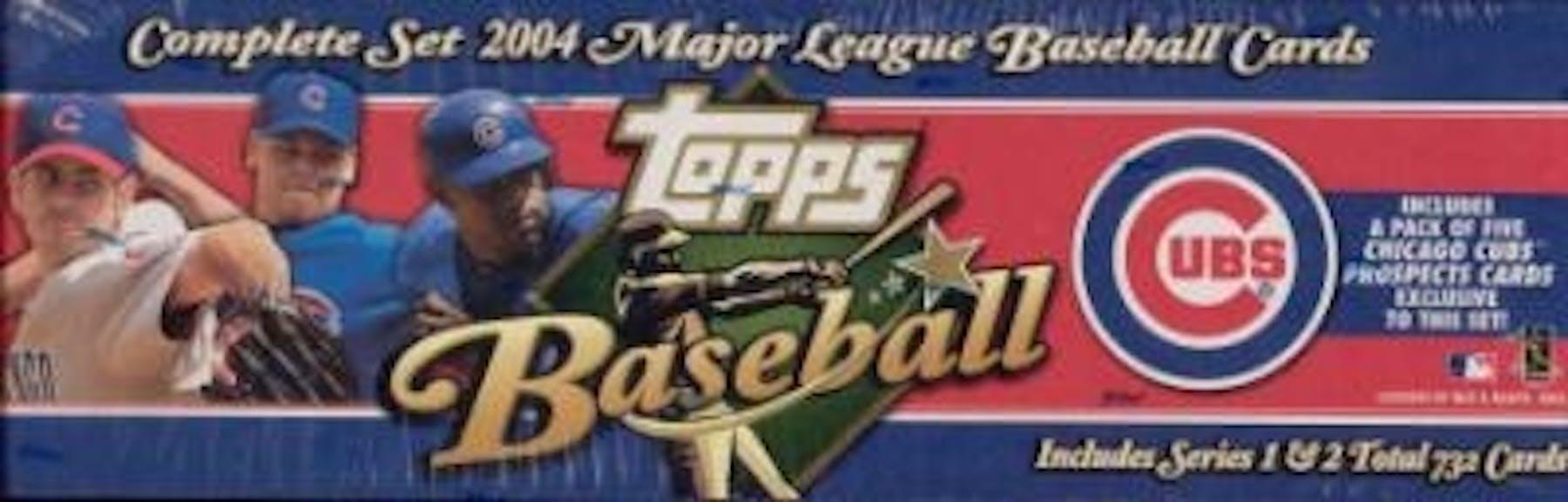 2004 Topps Factory Set Baseball Box Chicago Cubs Very Rare