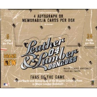 2004 Donruss Leather and Lumber Baseball Hobby Box