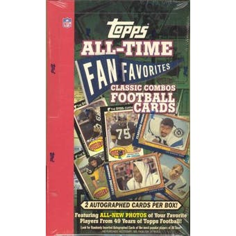 2004 Topps Fan Favorites Football Classic Combos Hobby Box