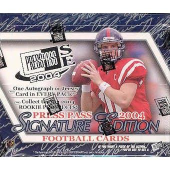 2004 Press Pass Signature Edition Football Hobby Box