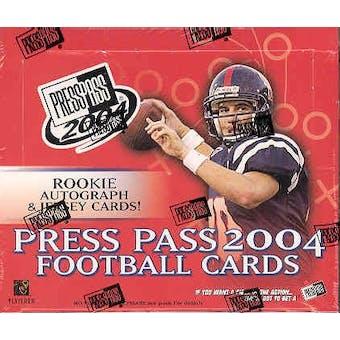 2004 Press Pass Football Hobby Box