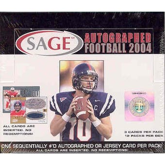 2004 Sage Autographed Football Hobby Box