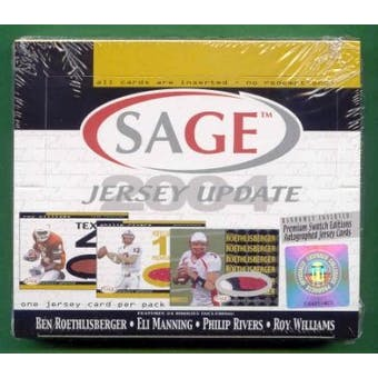 2004 Sage Jersey Update Football Hobby Box
