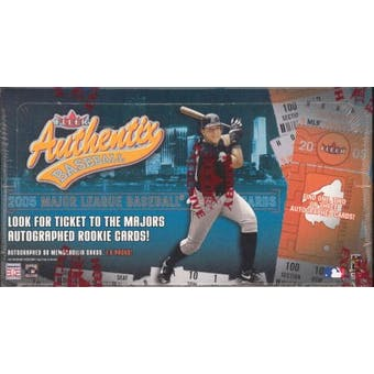 2005 Fleer Authentix Baseball Hobby Box