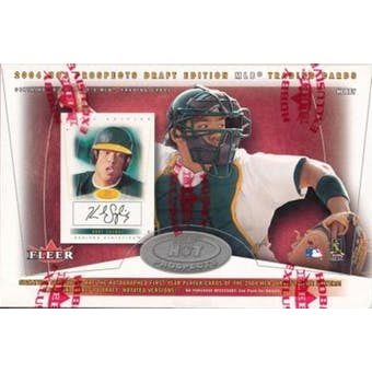 2004 Fleer Hot Prospects Draft Edition Baseball Hobby Box