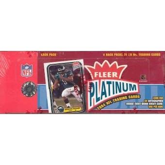 2004 Fleer Platinum Football Rack Box