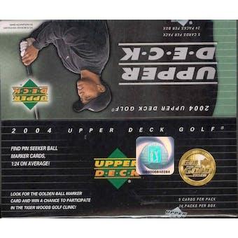 2004 Upper Deck Golf 24 Pack Box