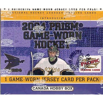 2003/04 Pacific Prism Game Used Hockey Hobby Box