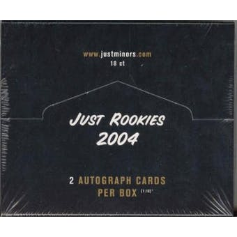 2004 Just Minors Just Rookies Baseball Hobby Box