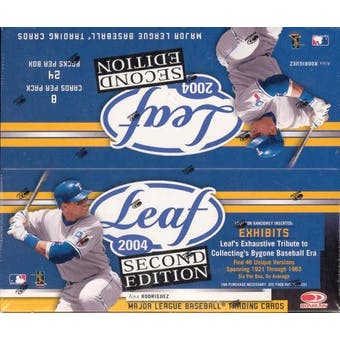 2004 Leaf Second Edition 24 Pack Baseball Box