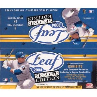 2004 Leaf Second Edition 24 Pack Baseball Box