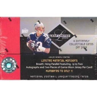 2004 Leaf Limited Football Hobby Box