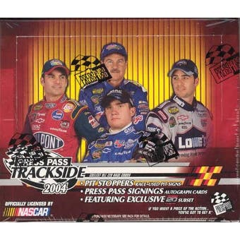 2004 Press Pass Trackside Racing Hobby Box