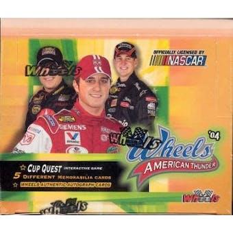 2004 Press Pass Wheels American Thunder Racing Hobby Box (2 Event Used Per Box)